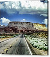 The Long And Lonely Road Acrylic Print by Ellen Heaverlo