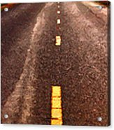 The Long Road Home . Painterly Style . Long Size Acrylic Print by Wingsdomain Art and Photography
