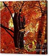 The Magic Of Autumn - Digital Abstract Acrylic Print by Carol Groenen