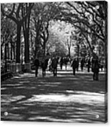 The Mall At Central Park Acrylic Print by Rob Hans
