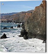 The Marin Headlands - California Shoreline - 5d19692 Acrylic Print by Wingsdomain Art and Photography