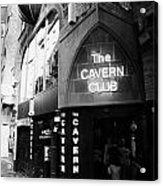 The New Cavern Club In Mathew Street In Liverpool City Centre Birthplace Of The Beatles Acrylic Print by Joe Fox