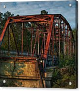 The Old Brooklyn Bridge Acrylic Print by Brenda Bryant