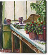 The Old Garden Shed Acrylic Print by Judith Whittaker