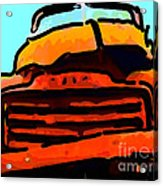 The Old Jalopy . 7d8396 . Color Sketch Style Acrylic Print by Wingsdomain Art and Photography