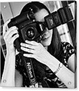 The Photographer Acrylic Print by Ricky Barnard