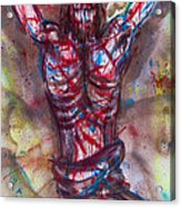 The Physical Death Of Jesus Acrylic Print by Thomas Lentz