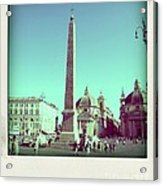 The Piazza Del Popolo. Rome Acrylic Print by Bernard Jaubert