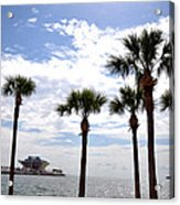 The Pier - St. Petersburg Acrylic Print by Bill Cannon