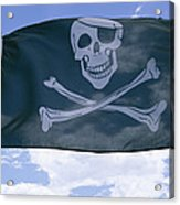 The Pirate Flag Known As The Jolly Acrylic Print by Stephen St. John