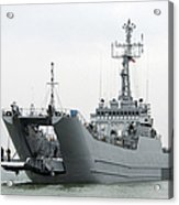 The Polish Lublin-class Minelayer Orp Acrylic Print by Stocktrek Images