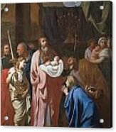 The Presentation Of Christ In The Temple Acrylic Print by Charles Le Brun