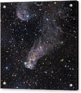 The Question Mark Nebula In Orion Acrylic Print by John Davis