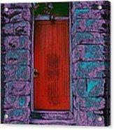 The Red Door Acrylic Print by Tim Allen