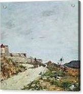 The Road To The Citadel At Villefranche Acrylic Print by Eugene Louis Boudin