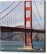 The San Francisco Golden Gate Bridge - 5d18911 Acrylic Print by Wingsdomain Art and Photography
