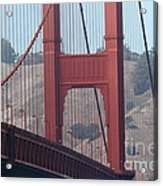 The San Francisco Golden Gate Bridge - 7d19057 Acrylic Print by Wingsdomain Art and Photography