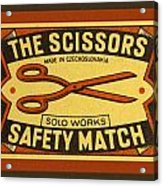 The Scissors Safety Match Acrylic Print by Carol Leigh