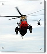 The Sea King Helicopter And The Agusta Acrylic Print by Luc De Jaeger