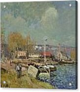 The Seine At Port-marly Acrylic Print by Alfred Sisley
