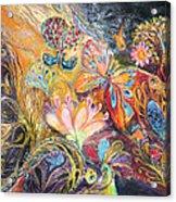 The Shining Of The Orange Tree Acrylic Print by Elena Kotliarker