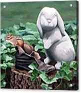The Stone Rabbit Acrylic Print by Sandra Chase