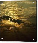 The Sun Obscured By A Late Afternoon Acrylic Print by Jason Edwards