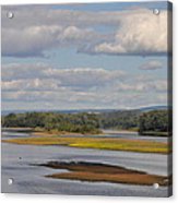 The Susquehanna River At Kingston Pa. Acrylic Print by Bill Cannon