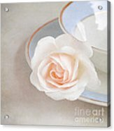 The Sweetest Rose Acrylic Print by Lyn Randle
