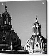 The Twin Domes Of S. Maria Di Loreto And Ss. Nome Di Maria Acrylic Print by Fabrizio Troiani