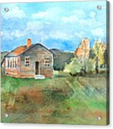 The Vacant Schoolhouse Acrylic Print by Arline Wagner