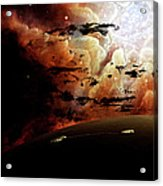 The View From A Busy Planetary System Acrylic Print by Brian Christensen