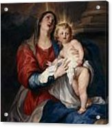The Virgin And Child Acrylic Print by Sir Anthony Van Dyck