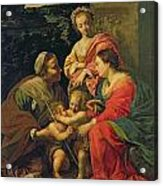 The Virgin And Child With Saints Acrylic Print by Simon Vouet