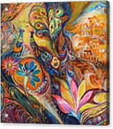 The Walls Of Jerusalem. The Original Can Be Purchased Directly From Www.elenakotliarker.com Acrylic Print by Elena Kotliarker