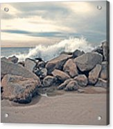 The Wave Acrylic Print by Nastasia Cook