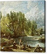 The Young Waltonians - Stratford Mill Acrylic Print by John Constable