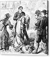Theater: False Shame, 1872 Acrylic Print by Granger