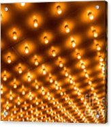 Theater Marquee Lights In Rows Acrylic Print by Paul Velgos