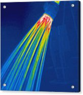 Thermogram Of A Shower Head Acrylic Print by Ted Kinsman