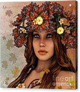 They Call Her Autumn Acrylic Print by Jutta Maria Pusl