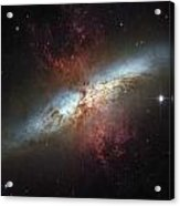 This Galaxy Is Called The Cigar Galaxy Acrylic Print by ESA and nASA
