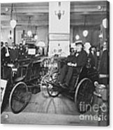 Thomas Edison In Quadricycle Acrylic Print by Photo Researchers