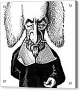 Thomas Hobbes, Caricature Acrylic Print by Gary Brown