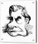 Thomas Huxley, Caricature Acrylic Print by Gary Brown