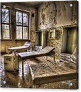 Three Beds Horror Acrylic Print by Nathan Wright