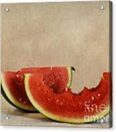 Three Bites Of Summer Acrylic Print by Priska Wettstein