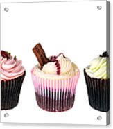 Three Cupcakes Acrylic Print by Jane Rix