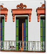 Three Of A Kind - The Windows In Old Sacramento Acrylic Print by Christine Till