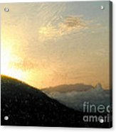 Thumb Butte Acrylic Print by Arne Hansen